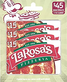 La Rosa Pizzeria Gift Cards, Multipack of 3