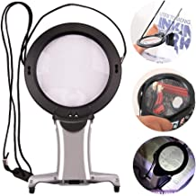 Neck Wear Magnifying Glass Hands Free High Clarity Double Lens Reading Magnifying Glass Chest Hanging Magnifier Light Loupe Old People Embroidery Weaving Tools for Visually Impaired Low Vision