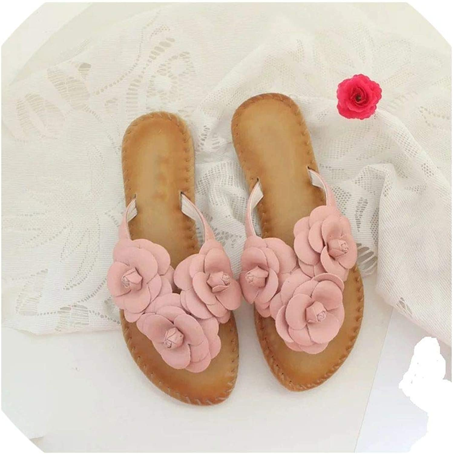 Female flip Flops Flowers Slippers Sweet Sandals shoes Beach Sandals