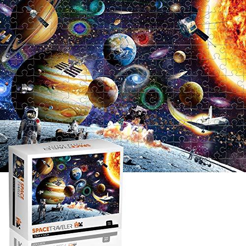 Jeestam Planets in Space Floor Puzzle de 1000 piezas, rompecabezas grande de juegos de arte colección para niños, adultos y adolescentes