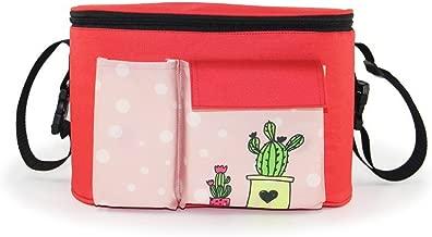 Stroller Organizer Stroller Bag Multiple Pockets Large Capacity Two Methods of Use (Red)