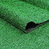 Tenwan Césped Artificial, Plastico Rollo Alfombra Cesped Artificial para Terraza Jardín Balcón con Orificios de Drenaje Alta Densidad Verde(1 * 1M)