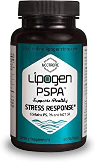 Stress Relief Premium Supplement - Lower Anxiety, Stay Calm, Sharp, Focused and Positive in Stressful Situations with Non-Drowsy. Lipogen PSPA Formula: 90 Capsules