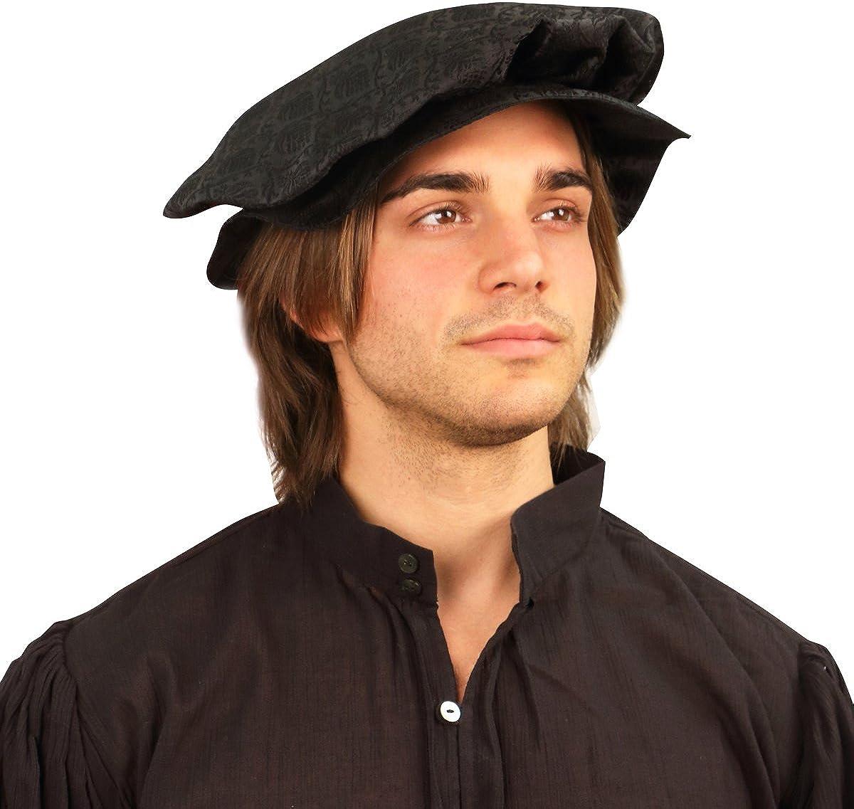 Renaissance Tudor Flat Cap for Men or Women