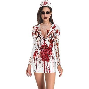 M Perfetto per Halloween e Carnevale 4 Taglie Diverse thematys Orrore Raccapricciante Costume da Suora per Signore