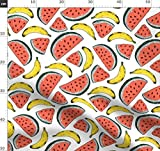 Wassermelone, Banane, Sommer, Badeanzug, Bikini Stoffe -