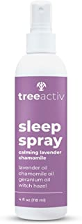 TreeActiv Sleep Spray, Calming Lavender Chamomile, Pillow and Sheet Spray with Fragrant Essential Oil Blend for Sleeping a...