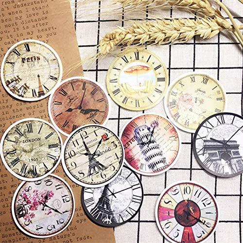 BLOUR stickerset Romeinse klokken rond vintage serie scrapbooking album geschenk happy planner ambachtelijke sticker decoratie 21 stuks
