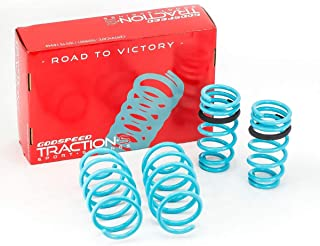 Godspeed LS-TS-HA-0012 Traction-S Performance Lowering Springs, Reduce Body Roll, Improved Handling, Set of 4