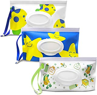 Portable Wet Wipe Pouch 3 Pack