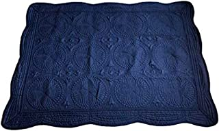 THOUSMOON Toddler Baby Blanket Baby Quilt Crib Blanket Lightweight Cotton Embossed Quilted Sleep Quilt (Navy)