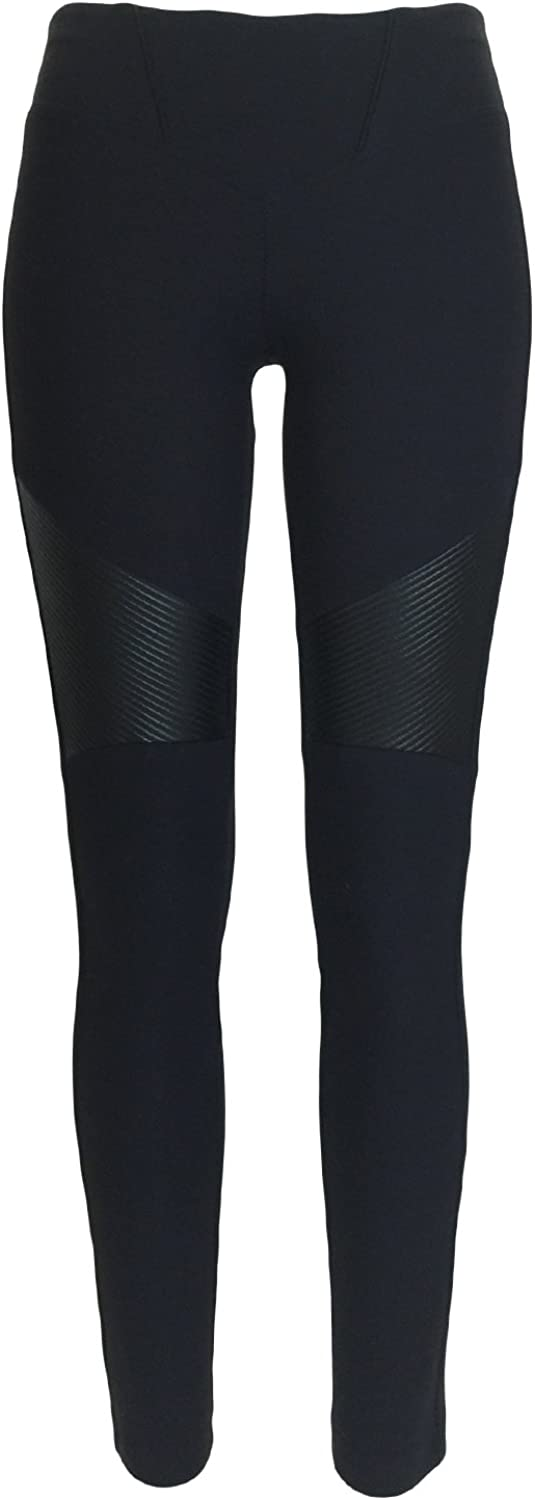 Atelieri Women's Biker style seamed leggings.