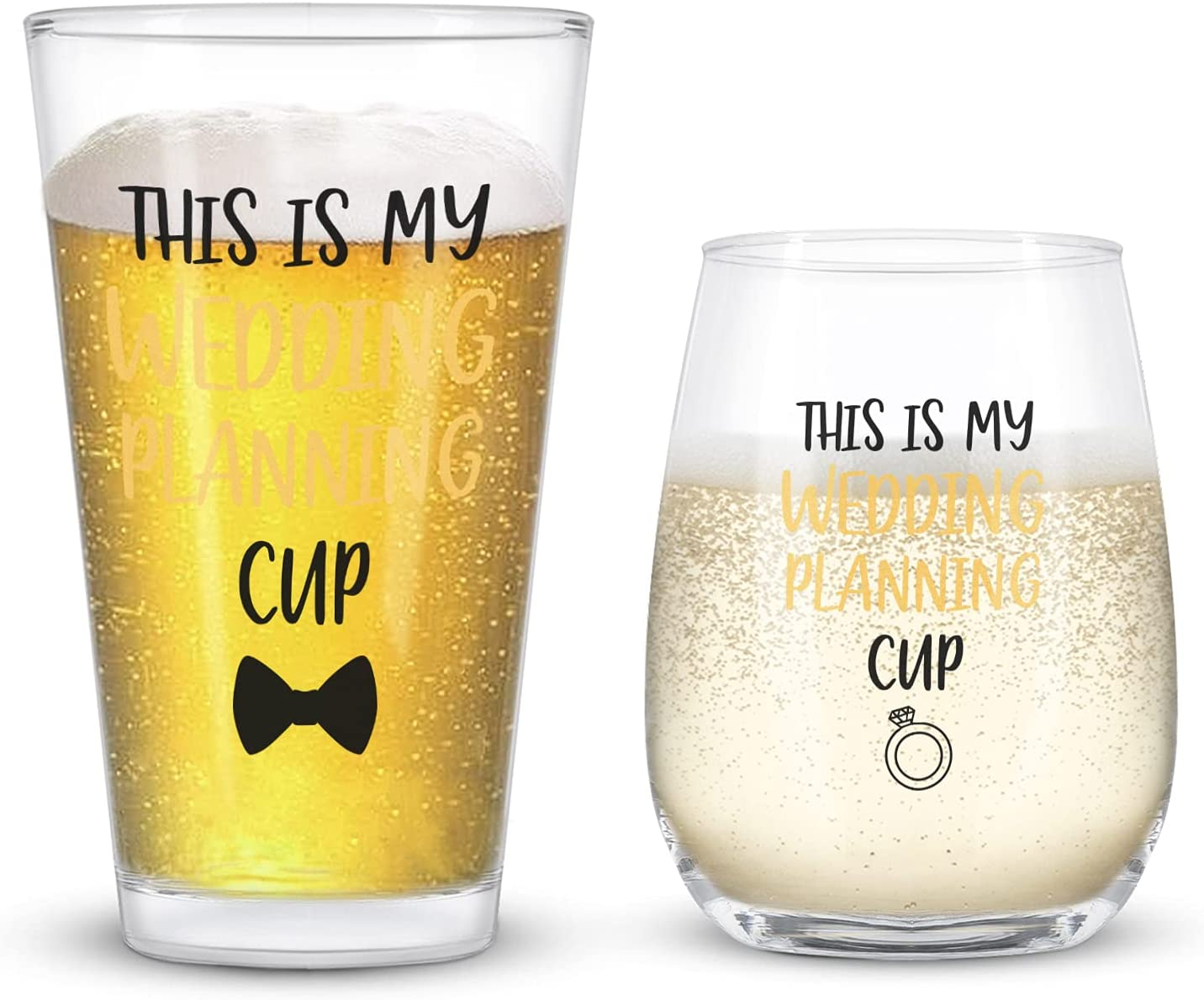 Super popular specialty Fresno Mall store This Is My Wedding Planning Cup Gla Glass Beer and Wine Stemless