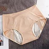 L-6XL Mujeres transpirables Pantalones fisiológicos reutilizables incontinencia de incontinencia de bragas Período menstrual a prueba de fugas Cintura media alta Calzoncillos sanitarios Higiénicos Fem