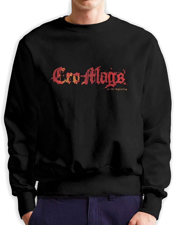 Cro-Mags Mens Long Sleeve Printed Sweatershirt Cotton Black