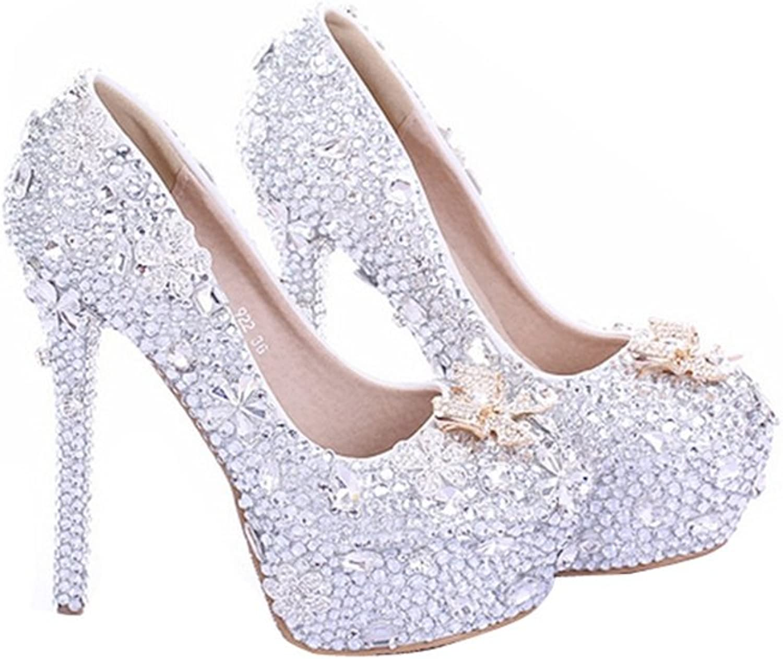 Miyoopark LL155 Women's Crystals Bridal Bridesmaid Wedding Evening Pumps shoes