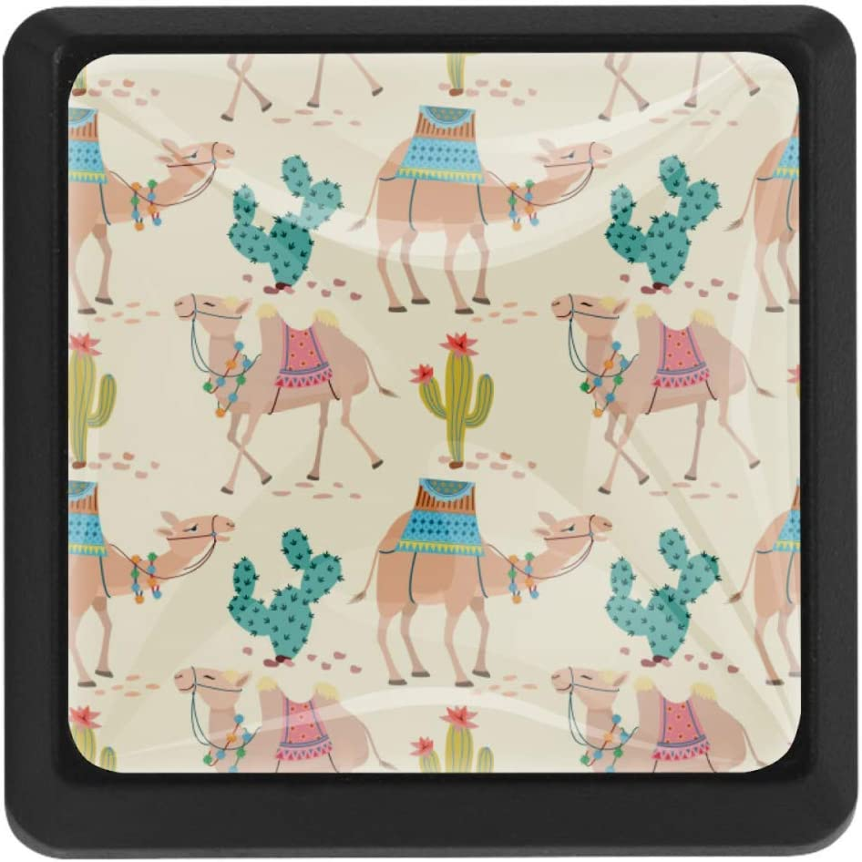 Shiiny Camel Desert with Genuine Free Shipping Cactus Pattern favorite Pull Drawer Square Knobs