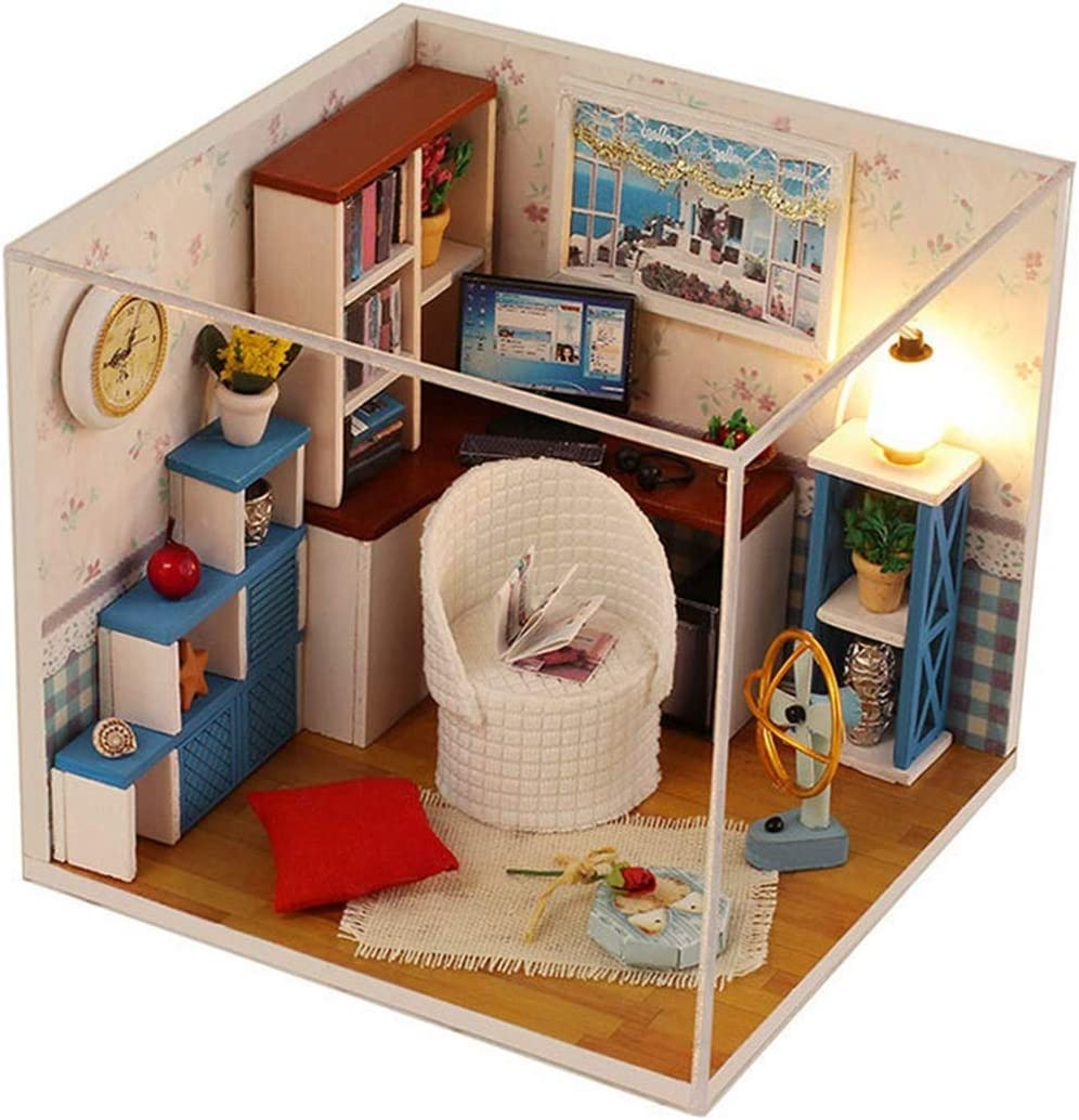 Limited time for free shipping AHWZ 3D Puzzle DIY Doll House Mini Kit cheap Cabin Children's Wooden