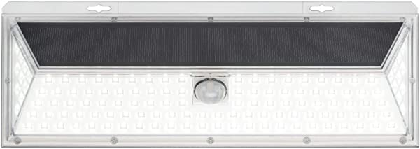 Mr Beams Solar Wedge Plus 126 LED Security Outdoor Motion Sensor Wall Light 1 Pack White
