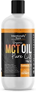 Organic Pure 99.2% C8 MCT Oil - Keto, Paleo, Brain & Heart Health - Fast & Sustainable Ketosis, Focus, Energy - Coffee, Sh...