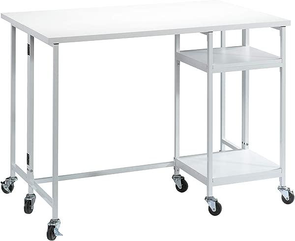Sauder 421983 Craft Pro Series Fold Out Work Cart L 47 64 X W 15 51 X H 35 43 White Finish