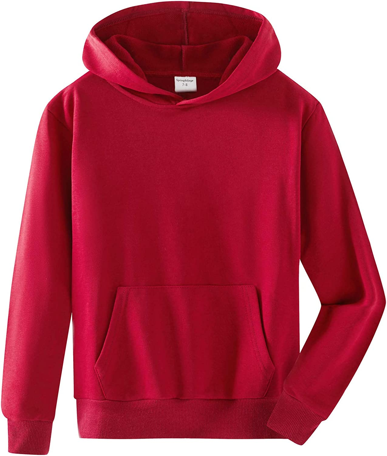 SpringGege Youth Solid Classic Hoodies Hooded Pullover Soft Swe Now free shipping Popular brand