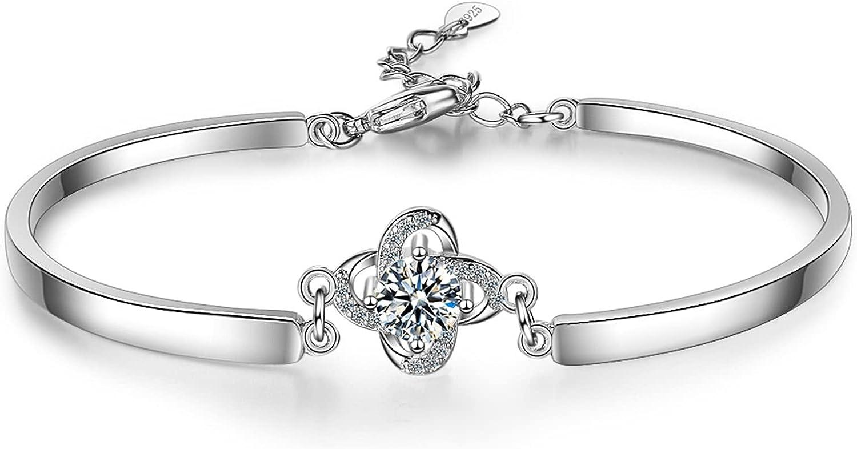 YSJJPQC Super popular specialty Super-cheap store Bracelets Sweet Rose Flower Zirconia 925 Cubic Shine Ste