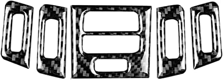 Accesorios para coche Accesorios para descapotable Bodbii Marco del Panel de Fibra de Carbono Control de navegación Ajuste de la Cubierta Decoraciones de Coches para BMW X5 X6 E70 E71 2008-2013
