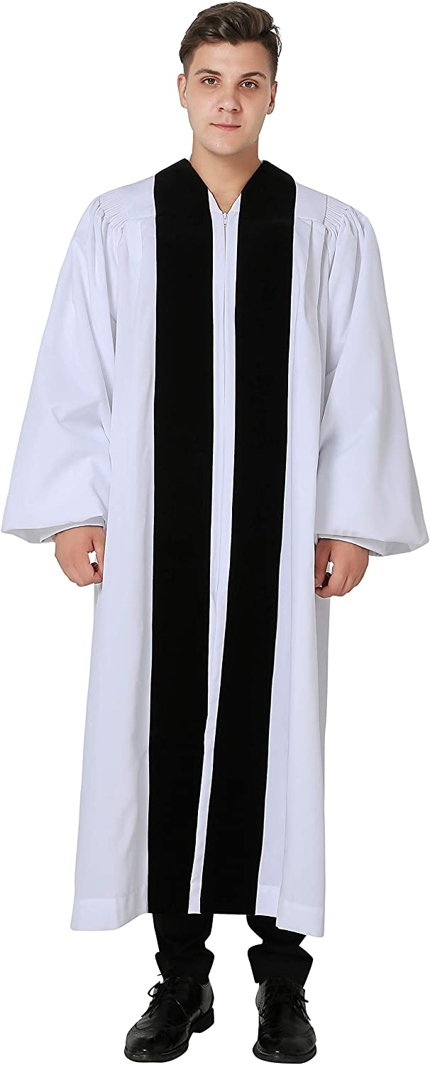IvyRobes Ranking TOP8 Max 67% OFF Unisex Velvet Geneva Clergy Robe Bell for Pulpit with S