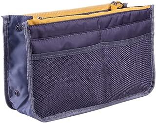 ZREAL Bolsas de cosméticos con Bolsillos Large Storage Washbag Handbag Insert Organizer Travel Multi-Pockets