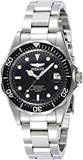 Invicta Men's Black Dial Stainless Steel Band Watch - IN-8932