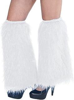 Amscan Plush Leg Warmers, Party Accessory, White