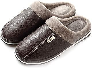 Men's Women's Slippers Foam Memory House Outdoor Indoor Shoes Slip-on Sole Clog Plush Anti-Skid Comfort Fleece Lining Fuzzy Cotton