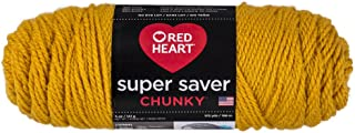 Red Heart Super Saver Chunky, Goldenrod Yarn