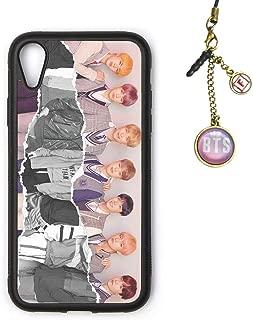 Fanstown Kpop BTS Bangtan Boys iPhone XR case Love Yourself 結 Answer + Album Logo Pendant (H17)