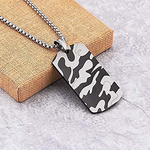 NC188 Collares para Hombres Acero Inoxidable Estilo Militar Etiquetas de Perro Militares Accesorios de joyería Collar para Hombres Collares de Hip-Hop