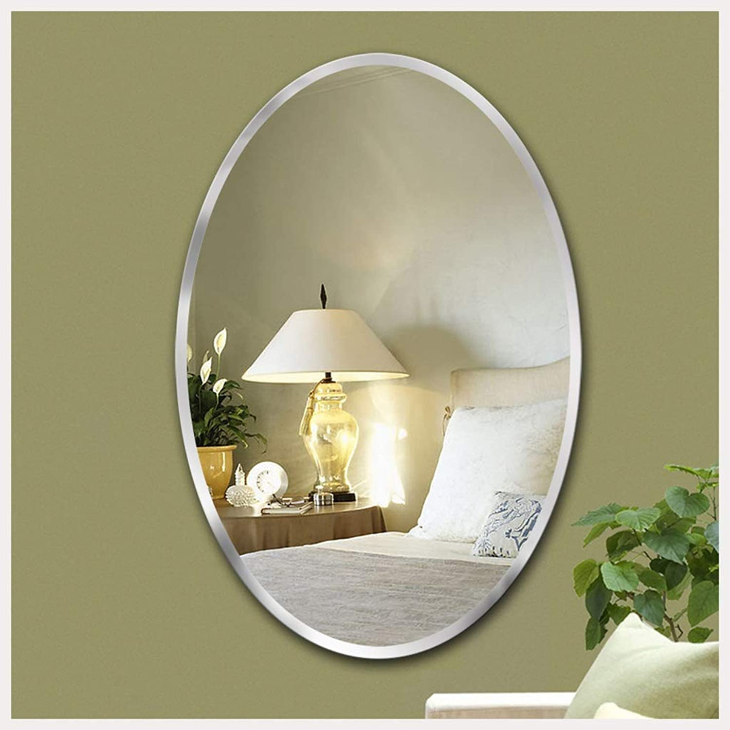 YYF Frameless Elliptical Mirror European Dressing Wall Hanging Bathroom Living Room 56cm41cm (22 inches  46 inches) (Size   56cmX41cm)