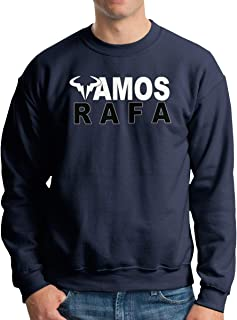 Mens Classic RAFA Vamos Rafael Nadal Logo Sweater Long Sleeve Jumper Sweat Baseball Jacket for Men Black