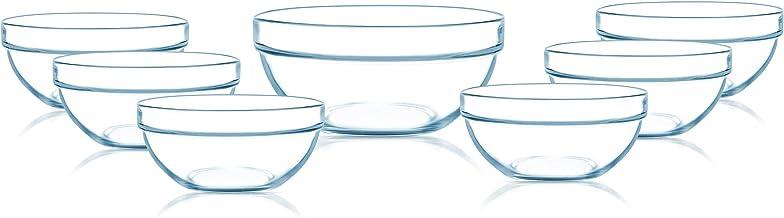 لومينارك مجموعة اوعية متعددة الاستخدام ، سبعة قطع ، شفاف - N2320