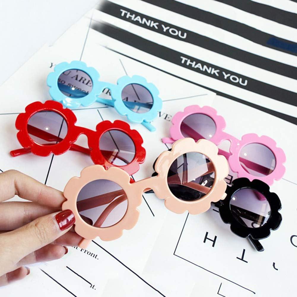 CONSTR Sun Flower Kids Girl Sunglasses Goggle UV400 Protection Eyewear