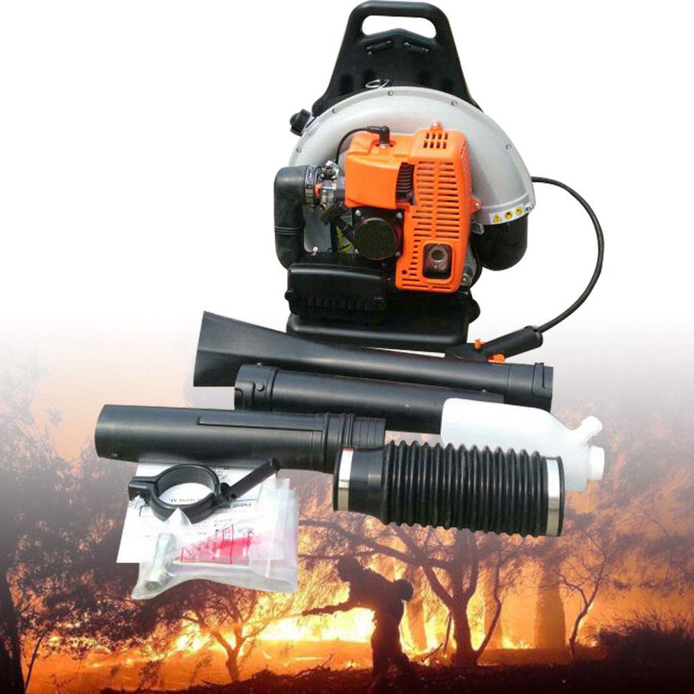 OUKANING Soplador de hojas de gasolina, 2,7 kW, R 65 CC, 2 tiempos, portátil, soplador de hojas: Amazon.es: Bricolaje y herramientas