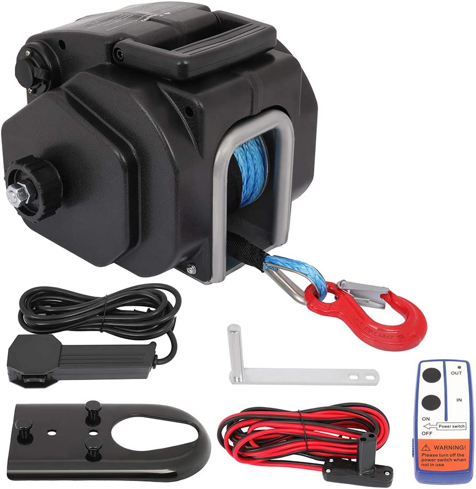 cciyu Electric Winch 12V 15000 lb for OFFicial store Limited price sale UTV Winches Boa ATV Towing
