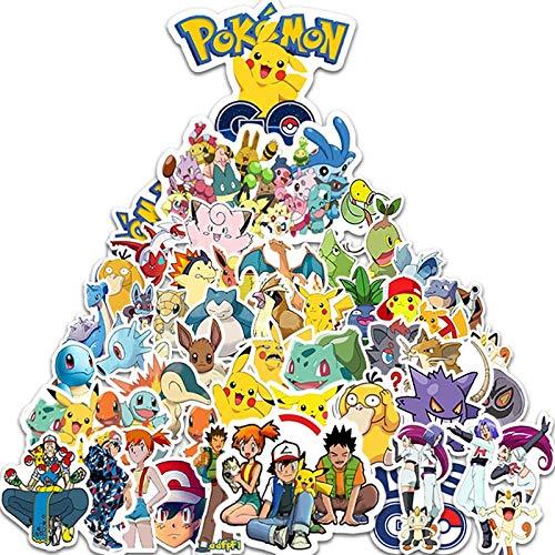 YOUKU Anime Pokémon (Pokémon) Trolley Equipaje Laptop Pegatinas de Graffiti Impermeables 50 Hojas