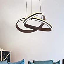 Modern LED Hanging Pendant Lamp for Living Room, Dimmable Chandelier Height Adjustable Ceiling Lighting Fixture for Bedroo...