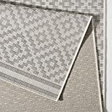 bougari In- und Outdoor Teppich Raute Grau Creme, 80x200 cm - 2