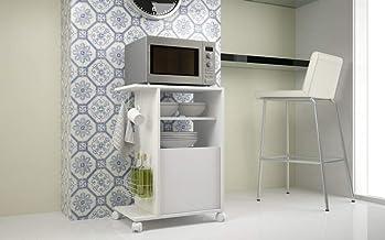 منظم اغراض المطبخ من بي ار في موفيز برفين وخزانة واحدة بلون ابيض ابعاد: الارتفاع 76 سم والعرض 54 سم والعمق 35 سم