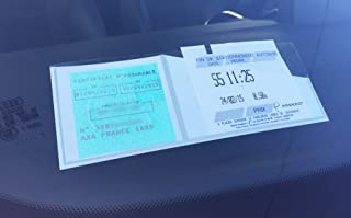 Color Pop Porte Tickets de Stationnement Et Assurance pour Pare Brise