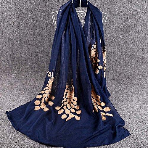 DBSCD Chiffon-Schal Sonnenschutz weichen Schal, Kopf Wickeln, Sarong - für den täglichen Gebrauch, Hochzeit, Sonnenschutz, GK