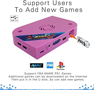 Arcade Jamma Mainboard, Pandora's Box 6 1300 in 1 Arcade Game Box PCB Classic Video Game Board, Support 3D Games/Two-channel HDMI & AUX Audio Output, No Built-in Games