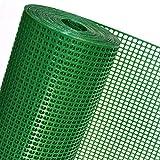 Valla sintética OP08/100 para obras, jardines, terrenos (1 m de altura, color verde, precio al metro)
